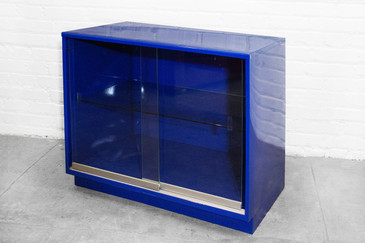 Electric Blue Steelcase Display/ Bookcase, circa 1965