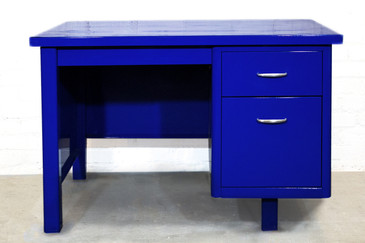 Refurbished Single Pedestal Tanker Desk, 1960s