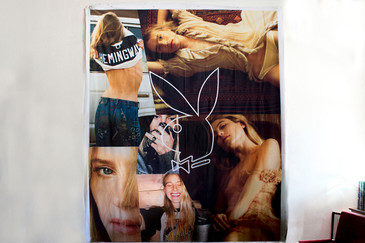 Playboy Photo Montage Super Bowl Party Wall Hanging II, 2016