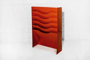 Vertical File Holder in Safety Orange, 1990s