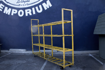 SOLD - Industrial Rolling Display or Storage Rack, circa 1990