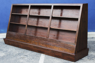 Large Vintage Bookcase on Casters, circa 1950s
