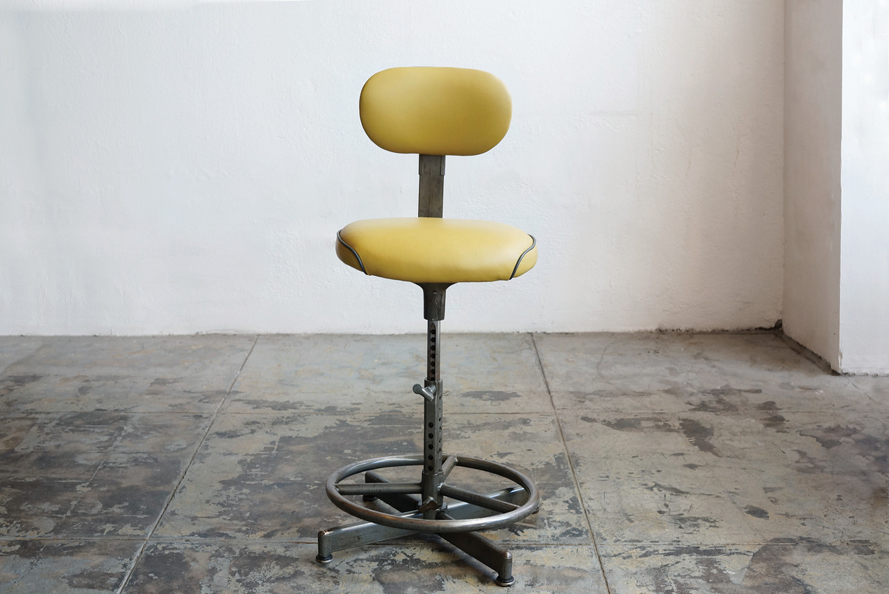 SOLD - Vintage Drafting Stool by Cramer, Circa 1940s - SOLD - Vintage Drafting Stool By Cramer, Circa 1940s - Rehab