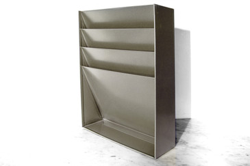 Retro Vertical File/Magazine Holder, Refinished in Silver Metallic