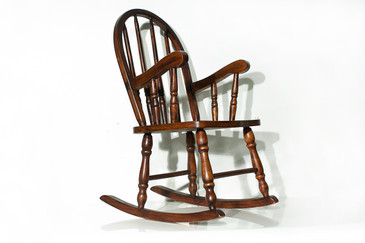 SOLD   Windsor Style Childrenu0027s Rocking Chair.