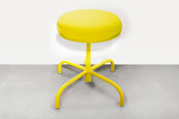 Vintage Counter Stool in Electric Yellow, circa 1960s