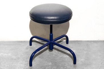 Vintage Counter Stool in Marine Blue, circa 1960s