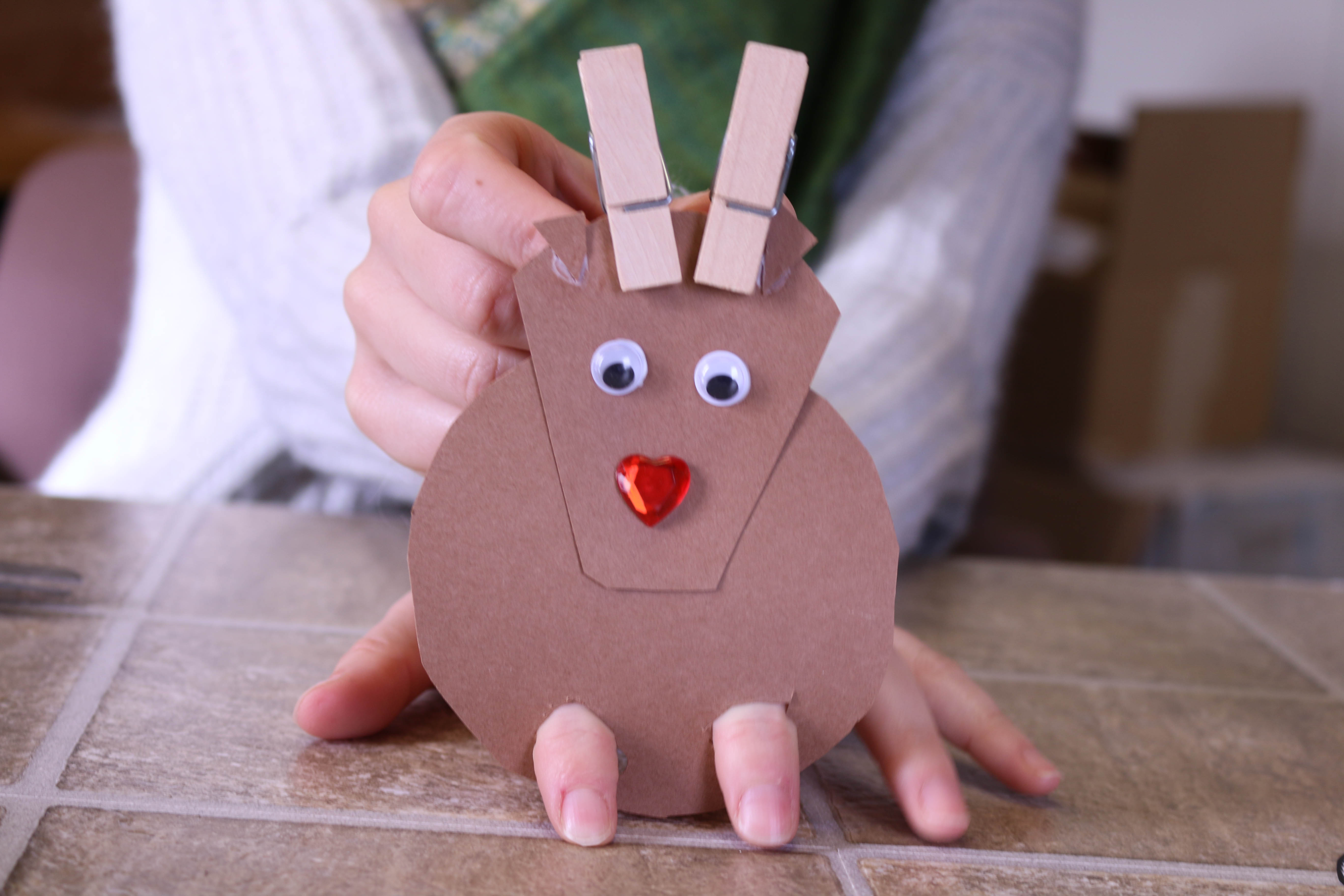 Reindeer puppet craft image