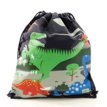 Bobble Art Dinosaur Drawstring Bag