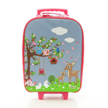 Bobble Art Woodland Wheeled Suitcase