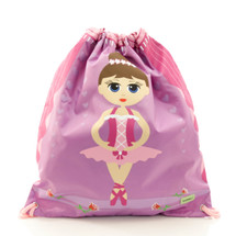 Bobble Art Ballerina Drawstring Bag