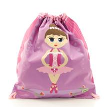 Bobble Art Ballerina Drawstring Bag
