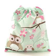 Bobble Art Owl Drawstring Bag