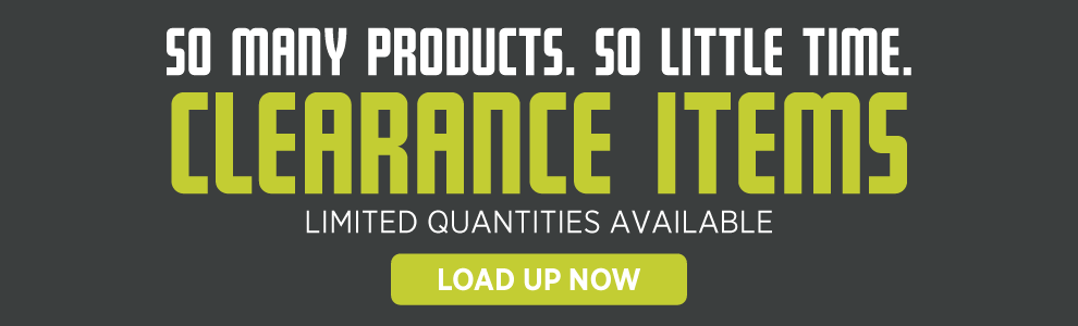 Clearance items are going fast! Shop today before we run out!