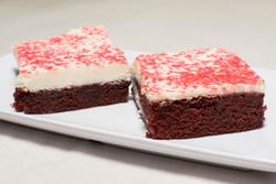 Cheesecake Topped Red Velvet Cake