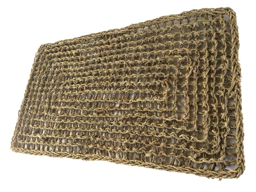 Seagrass Mat laid flat.