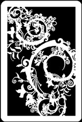 "6"" x 9"" -  Gothic Swirl Stencil/Mask A Colorful Life"