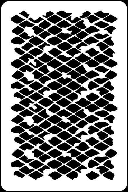 "6"" x 9"" - Messy Diamond Grid Stencil A Colorful Life"