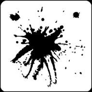 """6"""" x 6"""" -  Big Blots Stencil A Colorful Life"""