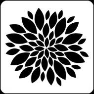 "6"" x 6"" -  Zinnia Stencil A Colorful Life"