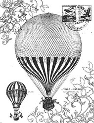 P016 Vintage Balloon Collage - Palettini