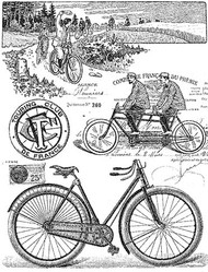 P017 Vintage Bicycle Collage