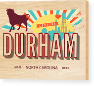 Genuine Durham NC Wood Panel