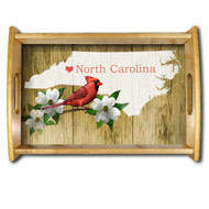NC Natural Wood Finished Serving Tray