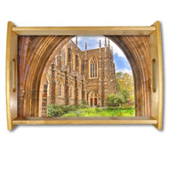 Duke Chapel Natural Wood Finished Serving Tray
