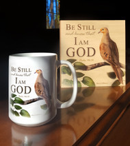 Be Still and Know that I am God Coffee Mug and Wood Panel
