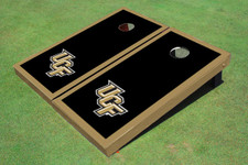 University Of Central Florida Black Matching Border Cornhole Boards