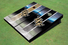 University Of Central Florida Field Long Stripe Alternating Themed Cornhole Boards