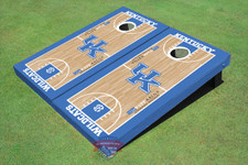 University Of Kentucky UK Logo Matching Basketball Court Themed Cornhole Boards