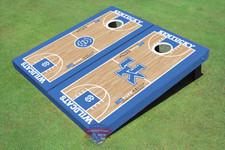 University Of Kentucky Alternating UK Logo & Rupp Arena Basketball Court Themed Cornhole Boards
