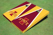 "Iowa State University ""I"" Alternating Triangle Cornhole Boards"