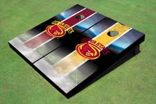 Iowa State University Cyclone Field Long Strip Alternating Themed Cornhole Boards