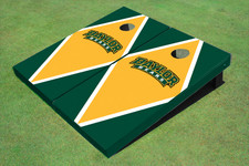Baylor University Arch Yellow And Hunter Green Matching Diamond Cornhole Boards