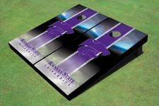 Kansas State University Wildcats Word Mark Field Long Strip Matching Purple Themed Cornhole Boards