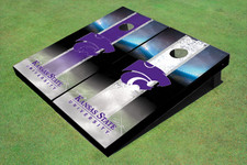 Kansas State University Wildcats Word Mark Field Long Strip Alternating Themed Cornhole Boards