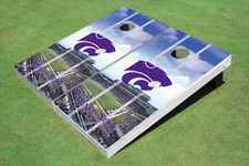 Kansas State University Wildcats Word Mark Stadium Long Strip Themed Cornhole Boards