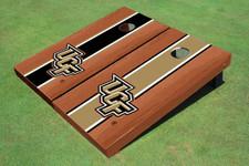 University Of Central Florida Rosewood Alternating Long Stripe Cornhole Boards