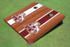 Mississippi State University Bulldog Rosewood Alternating Long Stripe Cornhole Boards