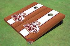 Mississippi State University Bulldog White Rosewood Matching Long Stripe Cornhole Boards