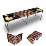 Bald Eagle Themed 8ft Tailgate Table