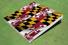 Maryland State Flag Themed Cornhole Boards