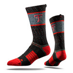 Texas Tech University Black Red Raider  Collegiate Socks