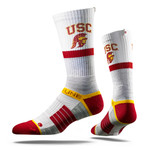 University of Southern California Heather Grey Trojan  Collegiate Socks