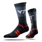 Virginia Tech University Charcoal Hokie  Strapped Fit 2.0 Socks