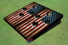 American Flag Themed 4 Hole Cornhole Board set