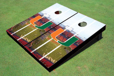 University Of Miami Stadium Long Strip Themed Cornhole Boards
